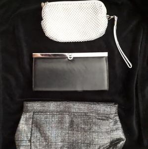 3 small wallets/ clutches